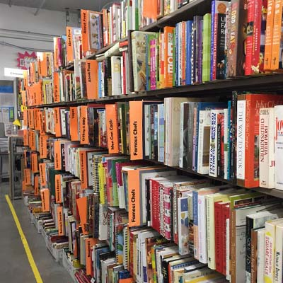 Book Sale Shelves